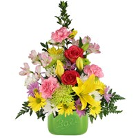 Daisies-for-mom-bright-blooms-in-colorful-container